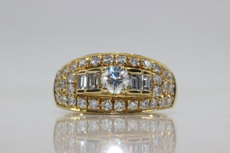 Bvlgari 18Kt YG 1.00ct. Diamond Ring
