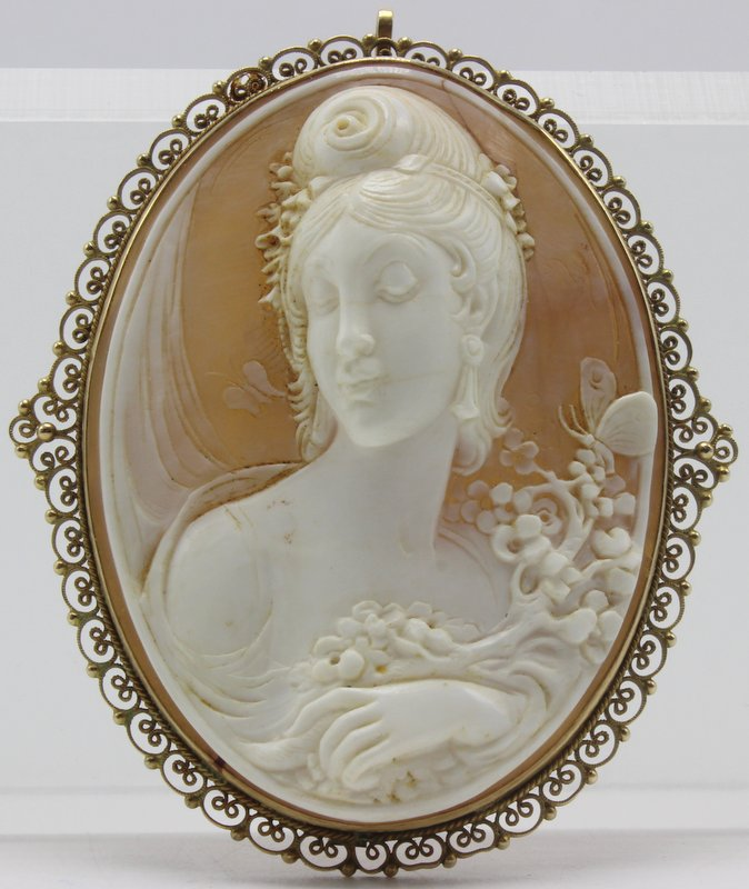 Beautiful French Cameo Brooch