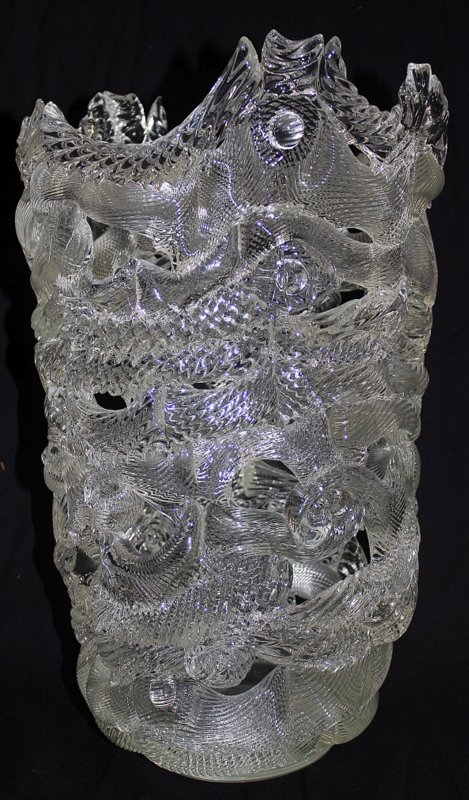 Rare Tom Philabaum Studio Art Glass Vase