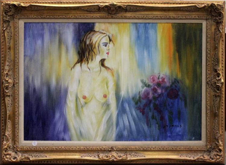 Signed Contemporary Oil Painting on Canvas