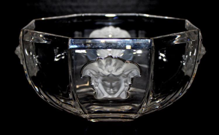 Rosenthal Versace Medusa Crystal Bowl