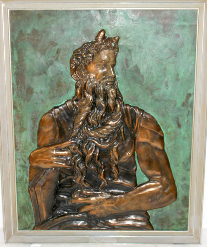 Beautiful Copper Plaque of Moses