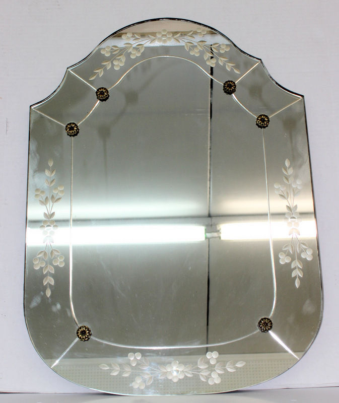 1940's Art Deco Beveled Mirror