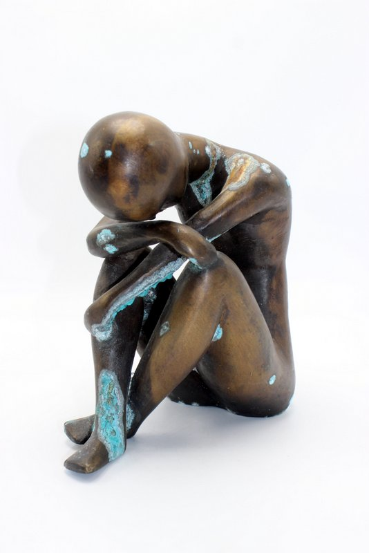 Signed Ruchos Bronze Figure