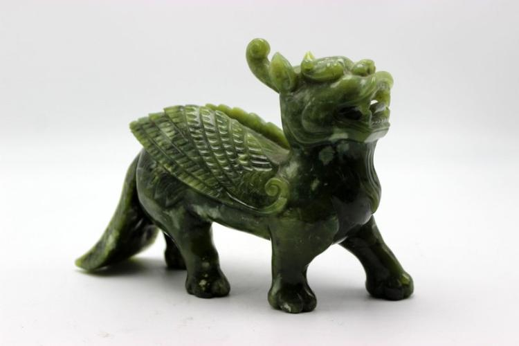 Chinese Spinach Jade Figure