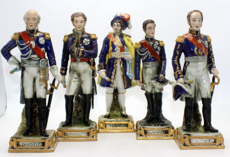 European Hand-Painted Porcelain Soldiers