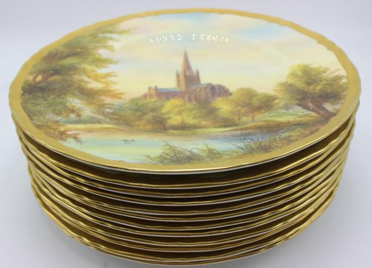 12 Pc. Royal Worcester Porcelain Plates