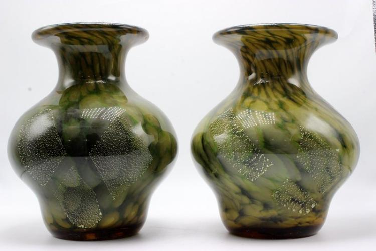 Pair of Italian Murano Glass Vases