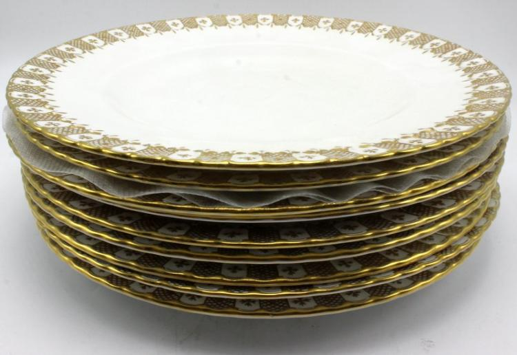 9 Pc. Royal Crown Derby Porcelain Plates