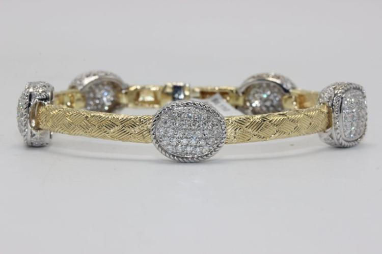 14Kt Two Tone 2.25ct. Diamond Bracelet