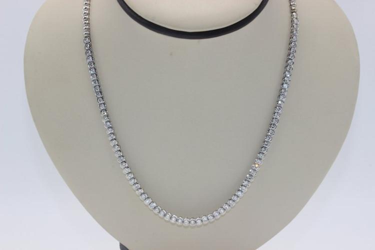 18Kt WG 7.70ct. Diamond Necklace