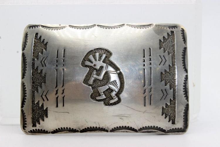 Richard Begay Native American Sterling Belt Buckle