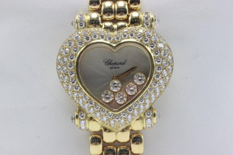 Chopard 18Kt YG Diamond Ladies Watch