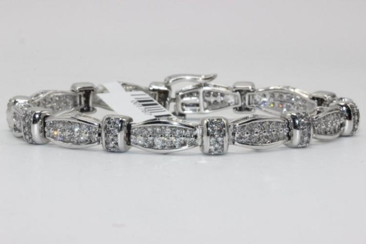 14Kt WG 7.00ct. Diamond Bracelet