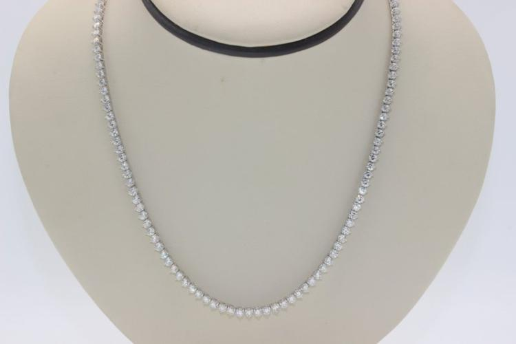 Platinum 12.00ct. Diamond Necklace