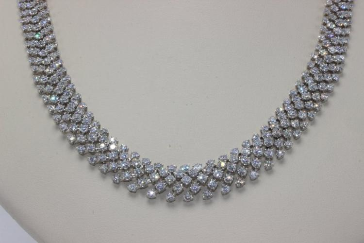18Kt WG 25.68ct. Diamond Necklace