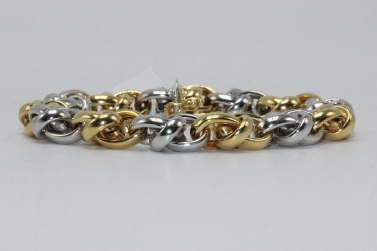 18Kt Two Tone Gold Bracelet