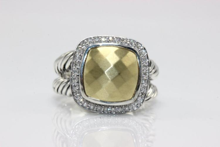 David Yurman 18Kt YG & Sterling Ring