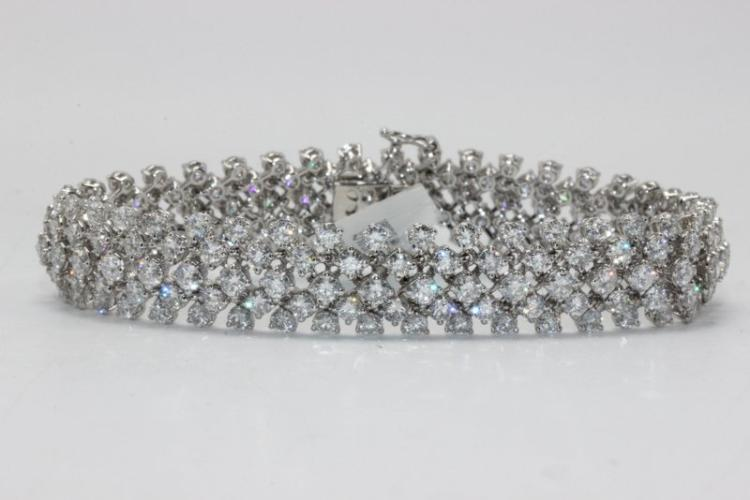 18Kt WG 13.94ct. Diamond Bracelet
