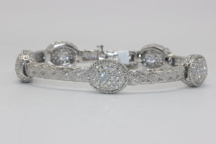 14Kt WG 2.50ct. Diamond Bracelet