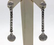 David Yurman 18Kt & Sterling Silver Earrings