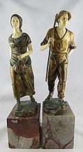 Julius Schmidi-Felling (German 1895-1930) Bronze Figures
