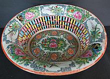 Chinese Rose Medallion Pierced Bowl