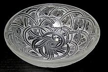 Lalique France Mesanges Crystal Bowl