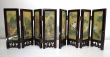 Pair of Lacquered 4 Tier Miniature Screens