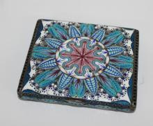 Russian Silver Cloisonne Enamel Covered Box