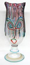 Pino Signoretto Art Glass Face Vase
