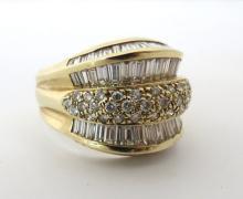 14Kt YG 3.50ct Diamond Ring