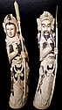 Antique Chinese Hand Carved Ivory King & Queen