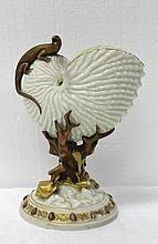 Unusual Royal Worcester Shell & Reptile Figure