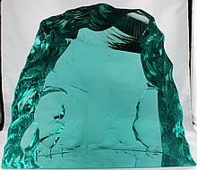 Kosta Boda Light Green Art Glass Sculpture