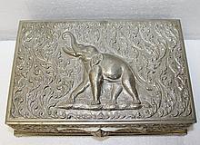 Thailand Silver Box w/ Wood Insert