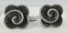 14Kt WG 8.64ct Diamond Cufflinks