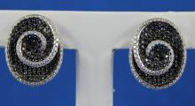 14K White Gold 6.87CT Diamond Earrings