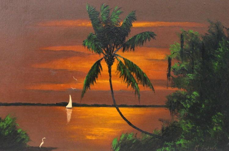 George Buckner (American 1942-2002) Oil Painting on Masonite