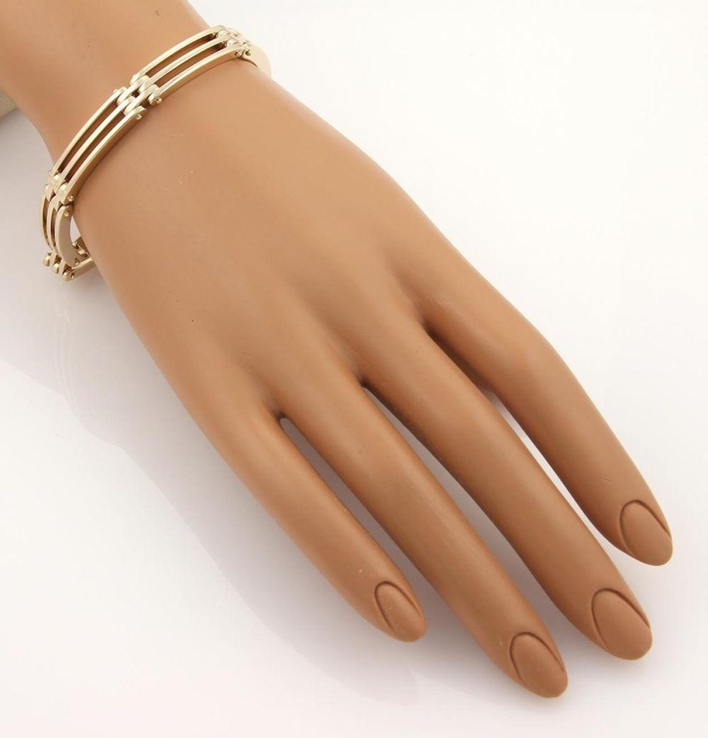 Tiffany & Co  14k Yellow Gold Gate Link Bracelet