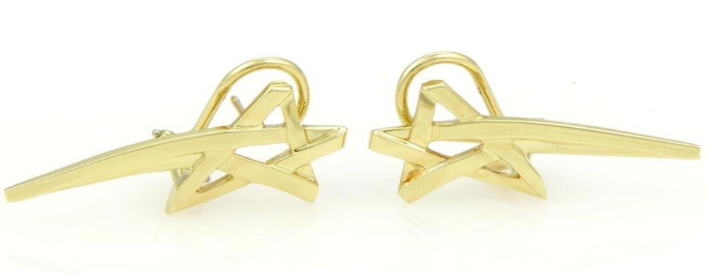 6fb232cbd Tiffany & Co Paloma Picasso 18k Gold Star Earrings