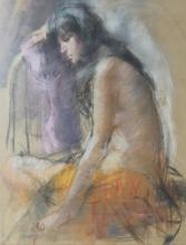 ARTIST UNKNOWN, SIGNED. NUDE WOMEN.