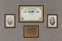 Oil Trust Certificate,Signed Rockefeller Dated1885