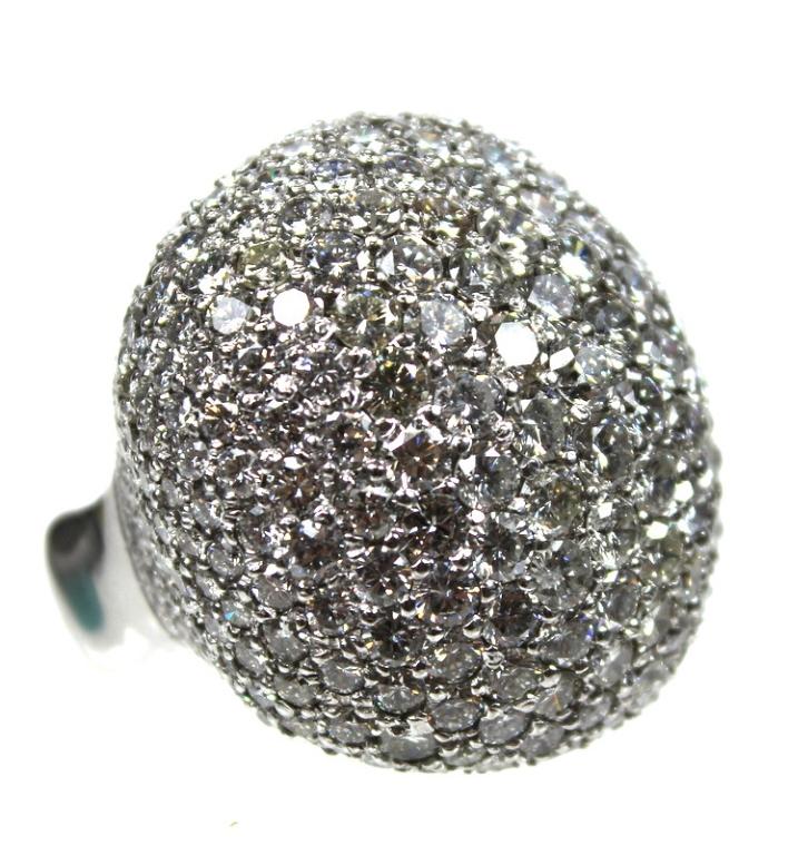 18 Karat 24 00 Carat Diamond Pave Dome Ring