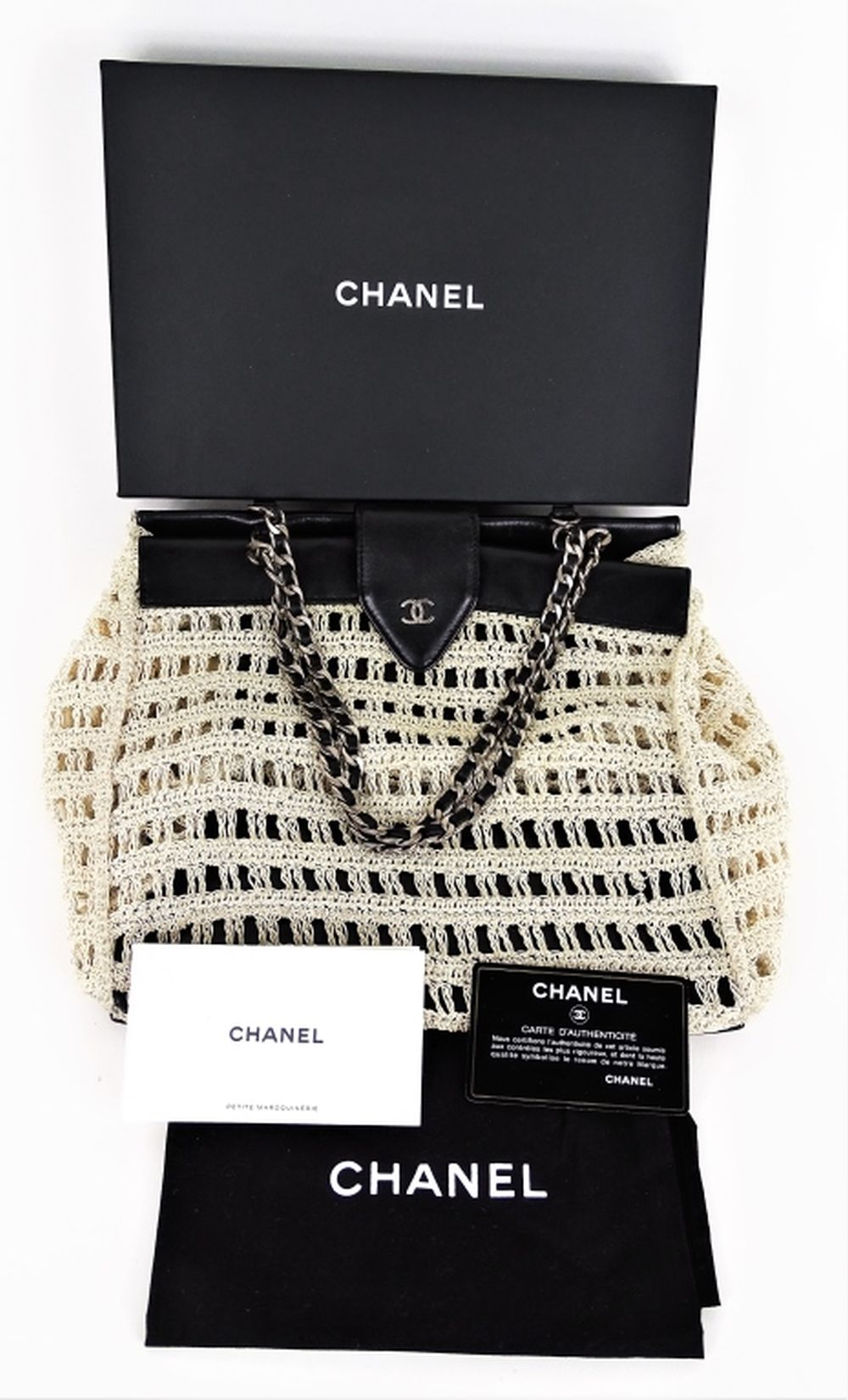 1ae9860f3268 Chanel Tweed Open Knit Summer Shoulder Bag Tote