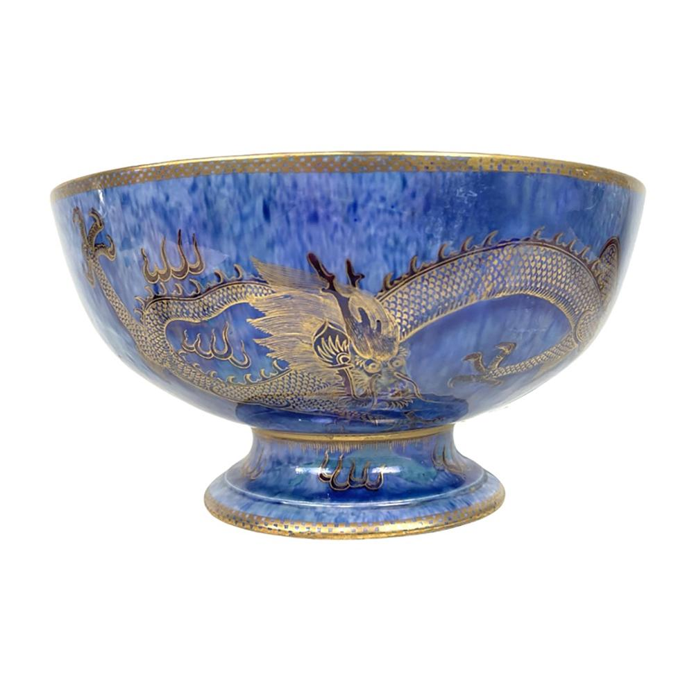 Wedgwood Lustre Chinese Dragon Large Footed Bowl