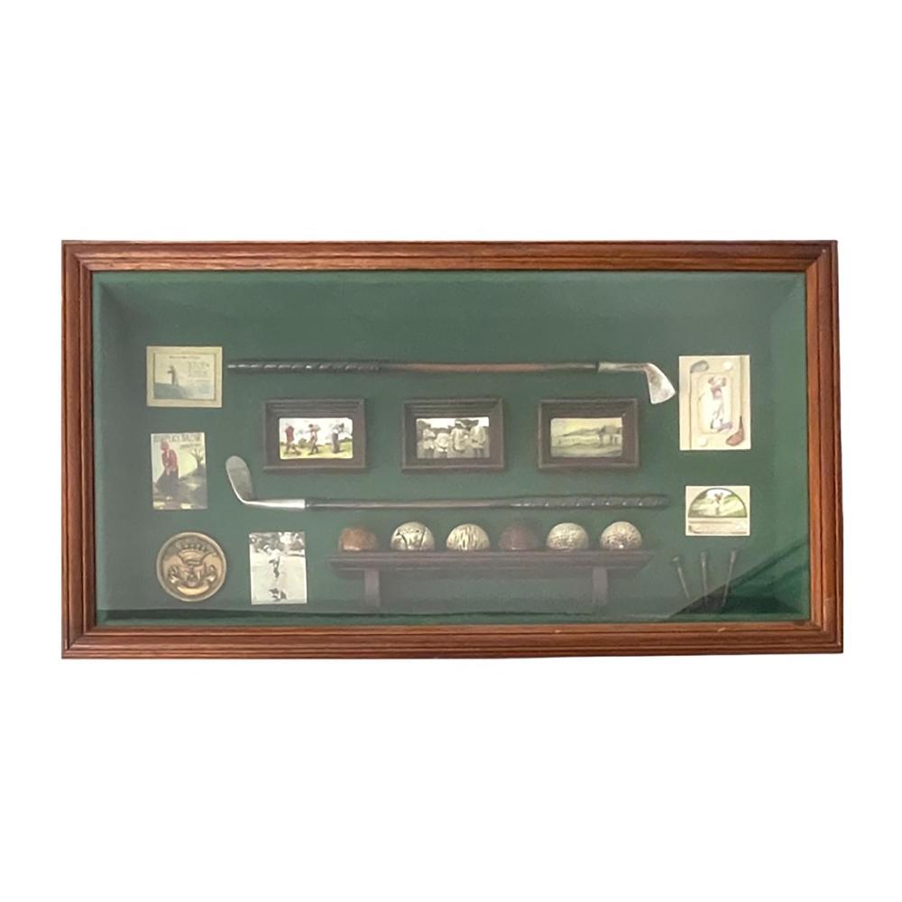 Hice Golf Club Memorabilia In Shadowbox Frame