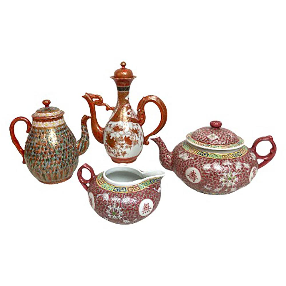 Lot of 4 Chinese & Japanese Porcelain Pitcher Item