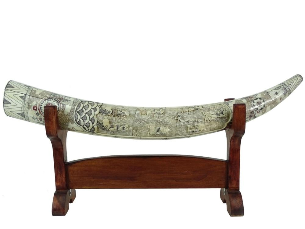 Incredible A Single Chinese Carved Bone Tusk Sculpture Andrewgaddart Wooden Chair Designs For Living Room Andrewgaddartcom
