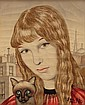 Foussa Itaya (b1919-) French-Japanese Surrealist
